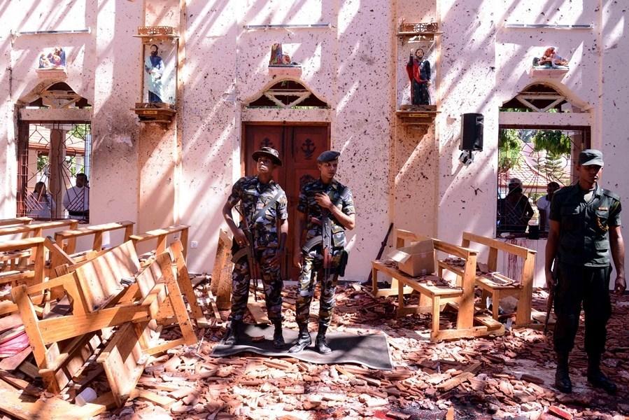 斯里蘭卡各地21日發生連環爆炸案,造成近300人喪生。(法新社提供)