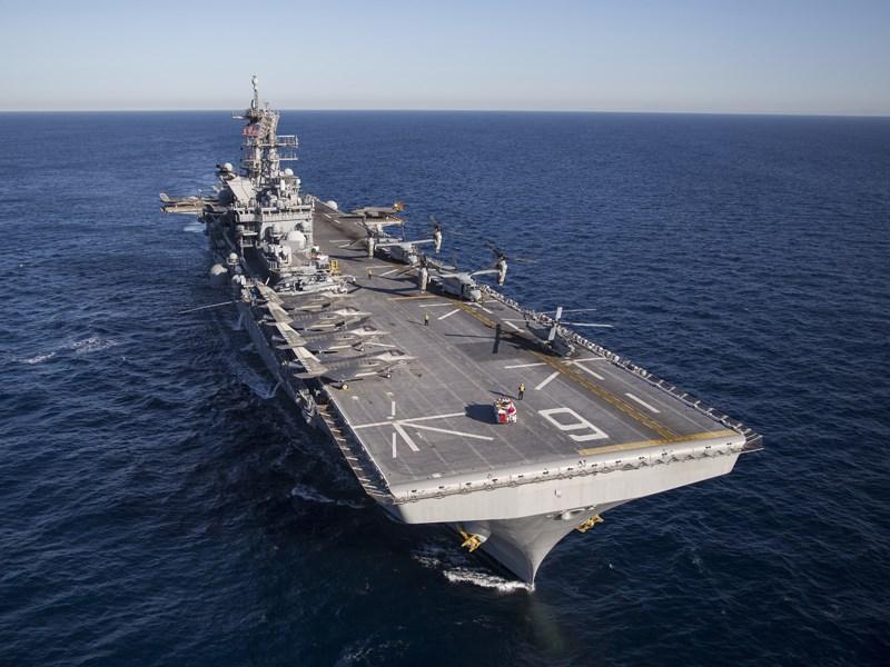 日媒報導,美國最新型的美利堅級兩棲攻擊艦將部署日本長崎縣海軍基地。(圖取自美國海軍網頁navy.mil)