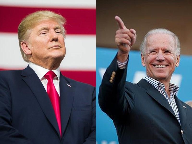 美國總統川普(左)愛替政敵取綽號,被川普稱「瞌睡喬」的前副總統拜登(右)反擊,幫川普取綽號為「小丑」。(圖取自facebook.com/DonaldTrump、facebook.com/joebiden)