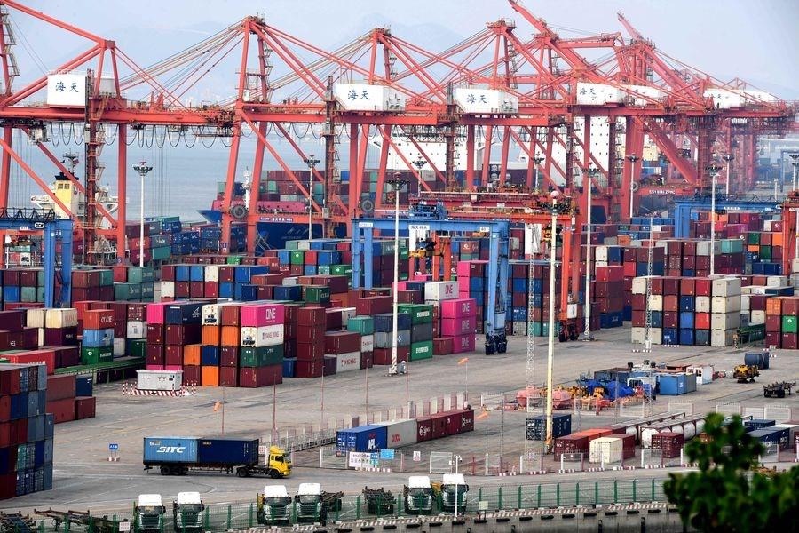 中國國務院宣布,6月1日起對已加徵關稅的600億美元清單美國商品提高關稅。圖為廈門港。(檔案照片/中新社提供)