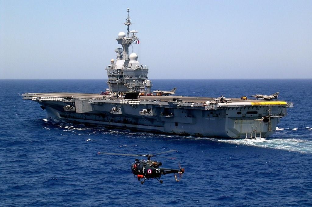 法國、日本、澳洲和美國的軍艦及潛艦16日首度舉行聯合操演,地點選在亞洲海域。圖為法國戴高樂號航空母艦。(檔案照片/圖取自維基共享資源;作者Pascal Subtil,CC BY-SA 2.0)