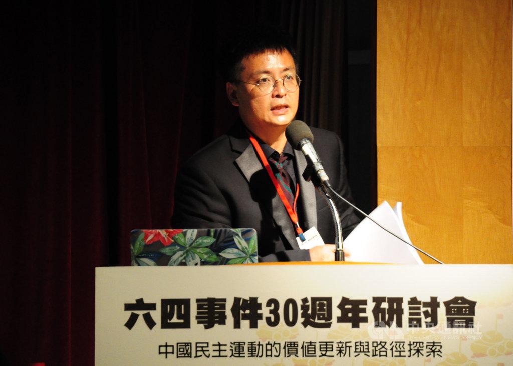 六四學運領袖封從德19日在台北舉行的六四事件30週年研討會表示,1989年的運動之所以失敗,是因為學生的無知,整場運動「荊軻太少,祥林嫂太多」,學生根本沒想過要推翻中共,刺殺極權體制。 中央社記者沈朋達攝 108年5月19日