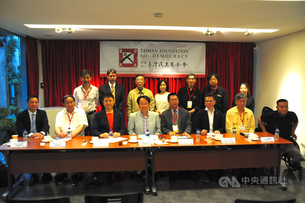 台灣民主基金會20日舉辦「六四30週年談中國對民主人權之威脅」座談會,邀請多名中國民運人士與會。中央社記者沈朋達台北攝 108年5月20日