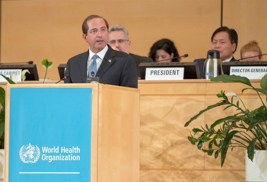 世界衛生大會20日開幕,美國、德國及英國在大會上發言直接或間接力挺台灣,其中美國衛生部長艾薩(前)強調台灣2300萬人民應得到發聲的機會。(圖取自twitter.com/secazar)