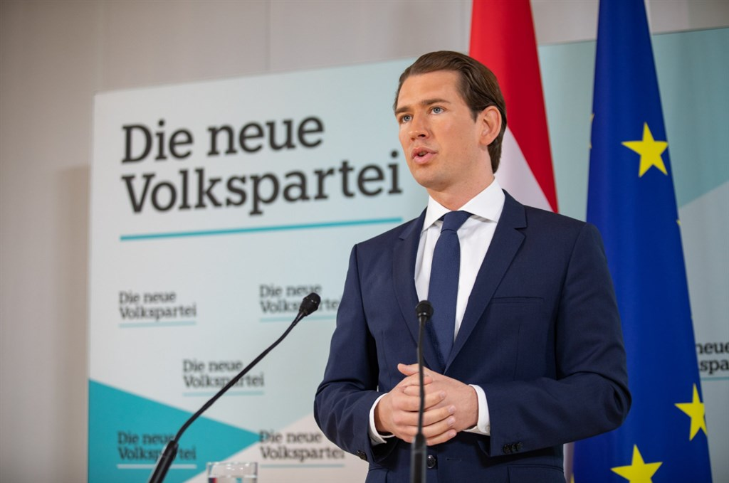 奧地利總理庫爾茨(圖)20日向總統建議開除拒絕下台的內政部長基克。(圖取自twitter.com/sebastiankurz)