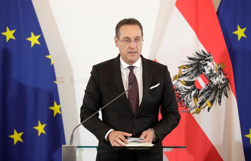 奧地利副總理史特拉赫(圖)爆發疑似「通俄門」醜聞,涉嫌與據稱是俄羅斯人士有不當利益往來,導致政府瓦解。(圖取自twitter.com/RegSprecher_AT)