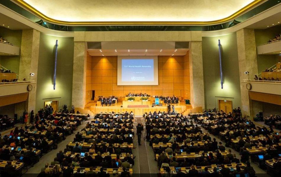 世界衛生大會(WHA)各國發言22日結束,共有8理念相近國家及15友邦為台發聲。(圖取自twitter.com/UN)