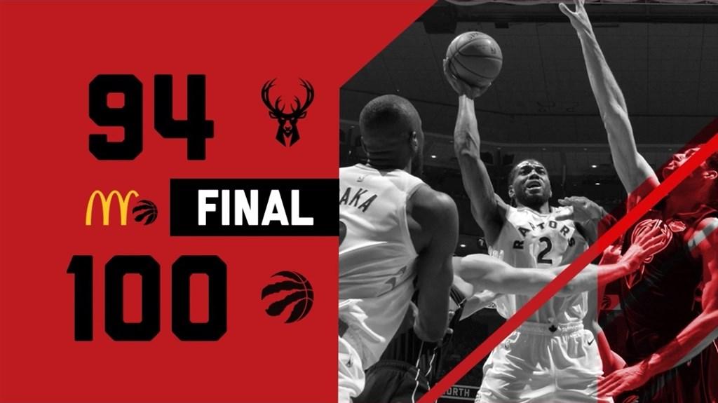 美國職籃NBA多倫多暴龍25日在東區決賽系列賽中以4勝2敗封王,將與西區的金州勇士爭奪總冠軍。(圖取自twitter.com/Raptors)