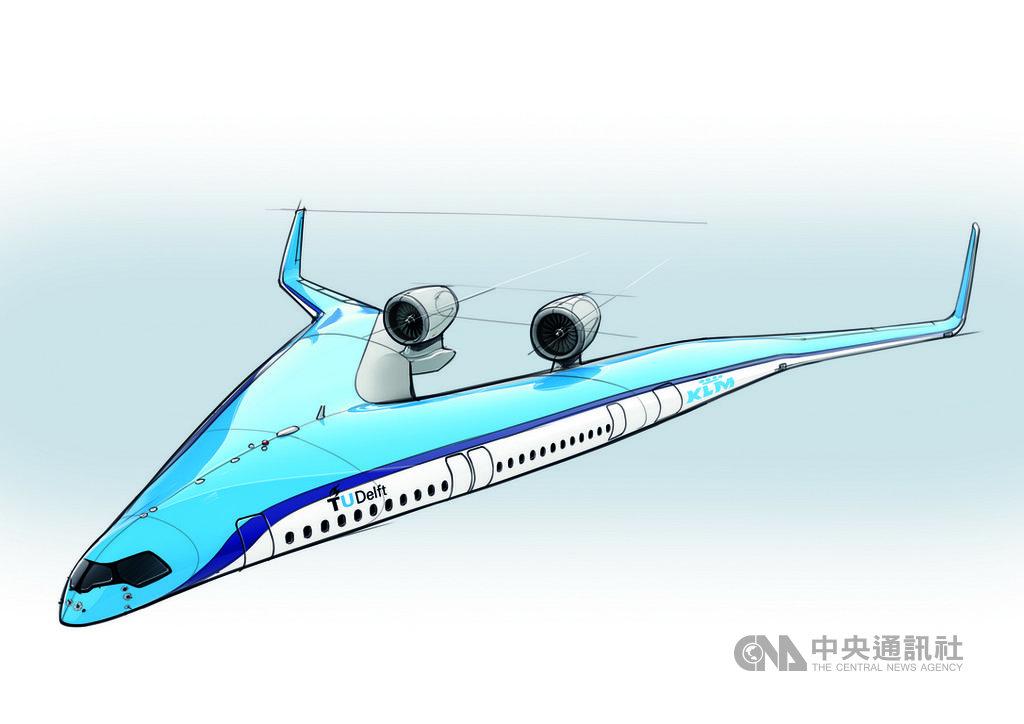 荷蘭皇家航空(KLM)2日在首爾的航空業年會中表示,正和德爾夫特科技大學共同建造新型的省油飛機,這架Flying-V預測將比現今最先進的空中巴士A350省油達20%。中央社記者李欣穎首爾傳真 108年6月2日