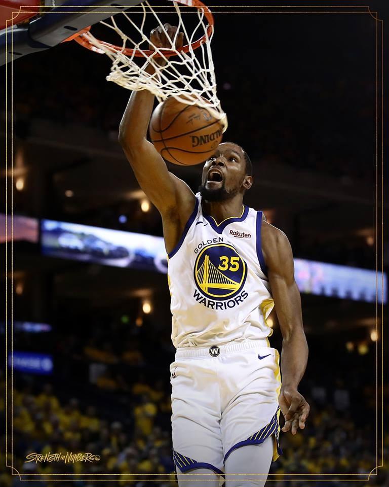 NBA多倫多暴龍再下一城就能抱回隊史首冠,衛冕軍金州勇士背水一戰,因傷缺陣的兩屆總冠軍賽MVP杜蘭特可望回歸。(圖取自facebook.com/warriors)