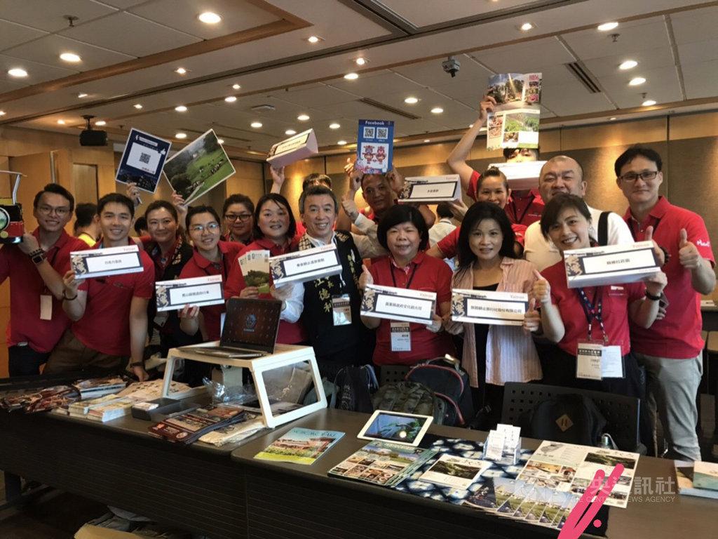 2019香港國際旅遊展13日起在香港會議展覽中心登場,苗栗縣政府文化觀光局率縣內旅遊業者參展,向國際旅客推薦苗栗之美,邀請大家到台灣旅遊。(翻攝照片)中央社記者管瑞平傳真 108年6月13日