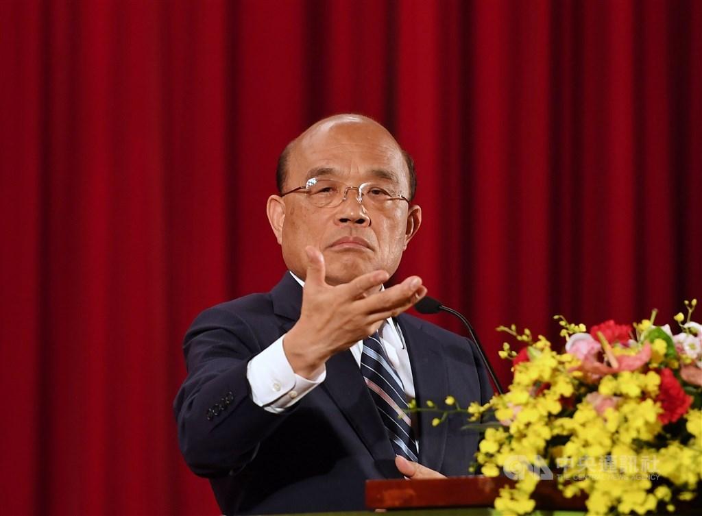 高雄市長韓國瑜13日列席行政院會,在會中提出多項建議,行政院長蘇貞昌(圖)除細數中央全力補助高雄外,並強調提出構想要能執行才行。(中央社檔案照片)