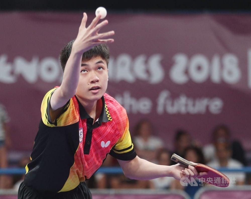 台灣桌球選手林昀儒16日在2019世界桌球巡迴賽的日本公開賽中拿下銀牌。(中央社檔案照片)