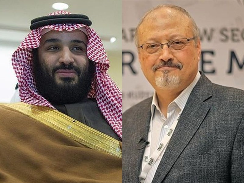 聯合國公布沙烏地阿拉伯記者哈紹吉(右)遭殺害案的調查報告,指該案為預謀殺人,並確認應調查沙烏地王儲穆罕默德.沙爾曼(左)。(檔案照片/安納杜魯新聞社提供)