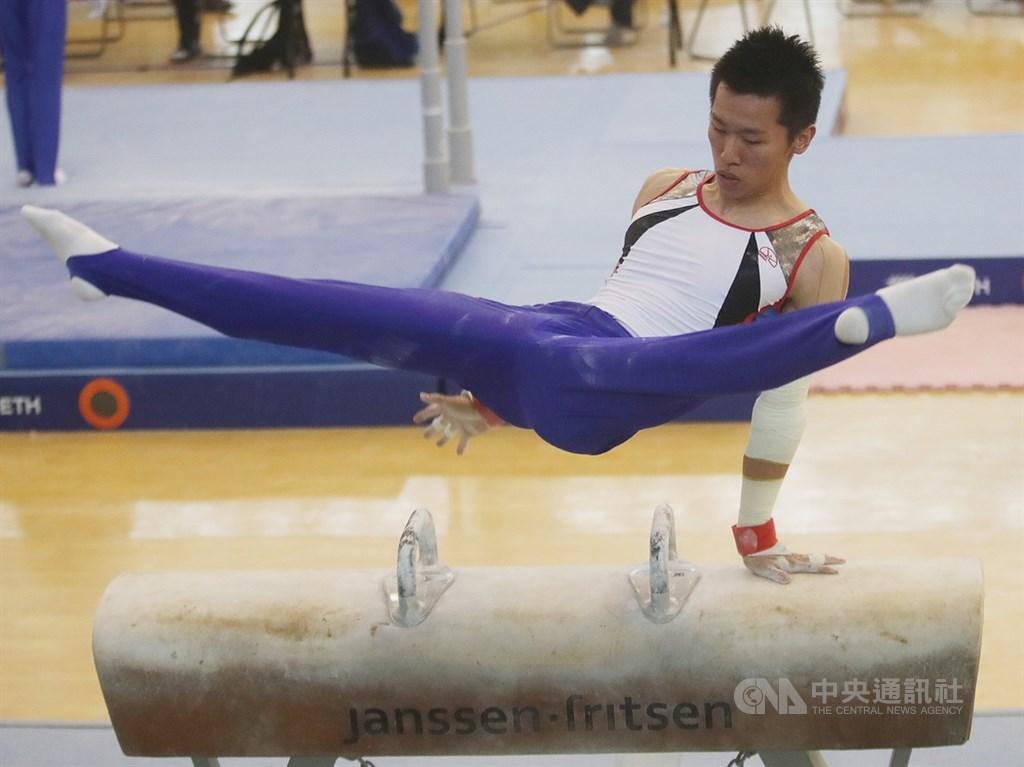 台灣體操好手李智凱20日在亞洲競技體操錦標賽中,拿下台灣在亞錦賽全能隊史首金。(中央社檔案照片)
