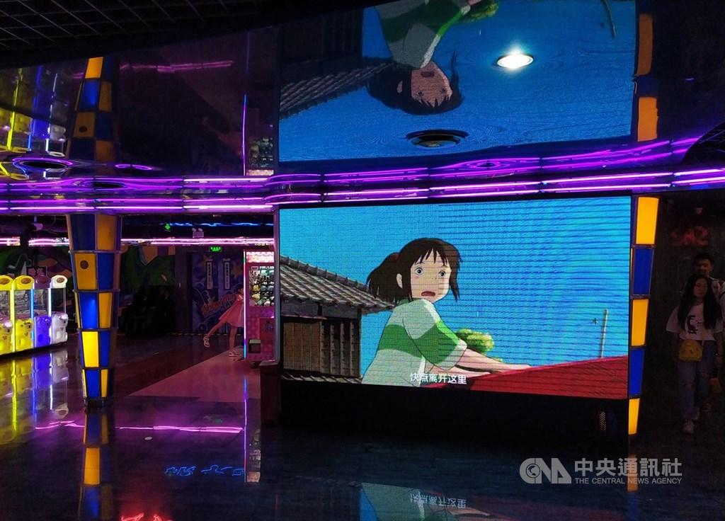 日本動畫大師宮崎駿18年前的經典作品「神隱少女」,21日終於在中國大陸院線首映。首日累計票房約人民幣5407萬元,是當天票房冠軍。圖為北京一處電影院。中央社記者繆宗翰北京攝 108年6月22日