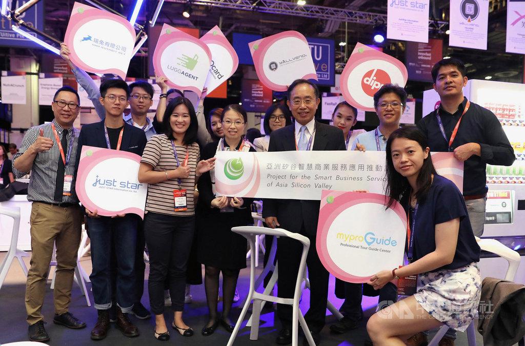新加坡新創科技展開幕,負責執行經濟部商業司新創計畫的資策會國際處,也帶領7家新創業者參展,並與當地新創團隊及創投交流,協助台灣新創鏈結新加坡。中央社記者黃自強新加坡攝 108年6月27日