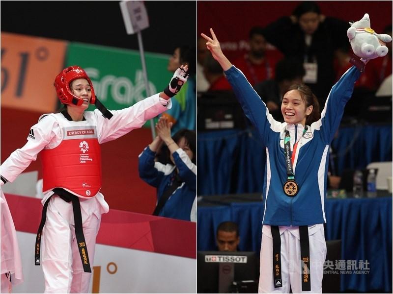 亞運跆拳道金牌得主蘇柏亞27日於澳洲公開賽女子53公斤量級勇奪金牌。(中央社檔案照片)