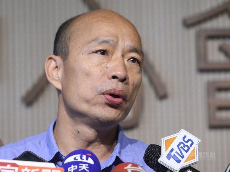 高雄市觀光局長潘恒旭25日出席一場小三通首航鬧劇引非議,市長韓國瑜(圖)28日為此致歉。(中央社檔案照片)