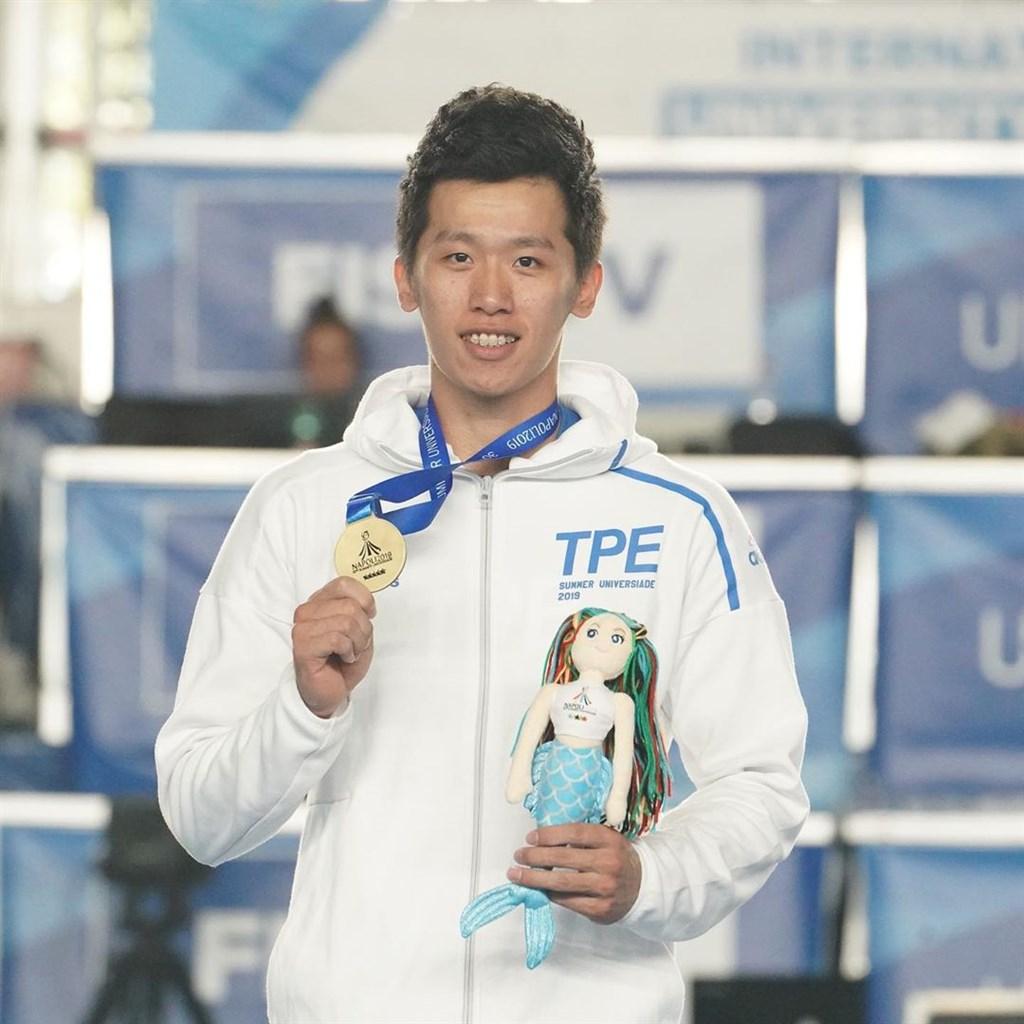 「鞍馬王子」李智凱6日在世大運體操男子全能以83.950分摘銅。(圖取自IG網頁instagram.com/teamtpe.tw)