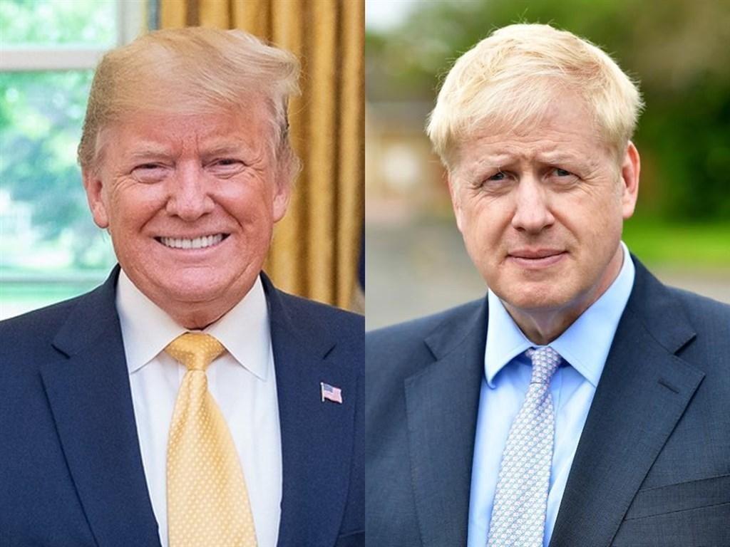 美國總統川普(左)與可能是下任英國首相的前外相強生(右)交情甚篤,就連兩人的背景也極為相似。(左圖取自facebook.com/WhiteHouse、右圖取自facebook.com/borisjohnson)