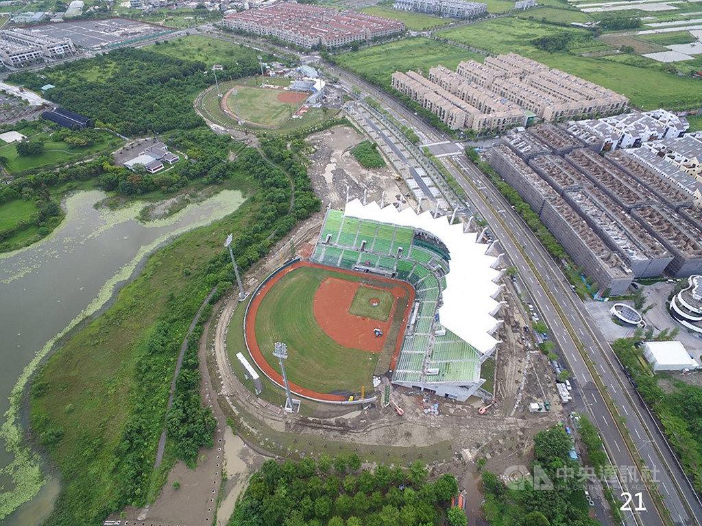 U12世界盃棒球錦標賽26日將在台南開打,台南市府已趕在開幕戰引爆前完成亞太國際棒球訓練中心(亞太棒球村)少棒主球場和副球場工程,20日將同時啟用。(台南市政府提供)中央社記者張榮祥台南傳真 108年7月19日