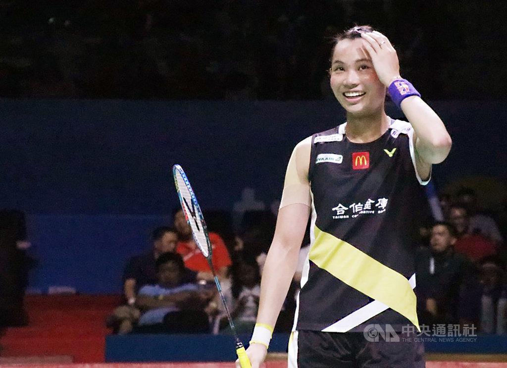 羽球世界球后戴資穎(圖)20日在2019印尼羽球公開賽敗給日本名將山口茜,無緣晉級冠軍戰。中央社記者石秀娟雅加達攝 108年7月20日