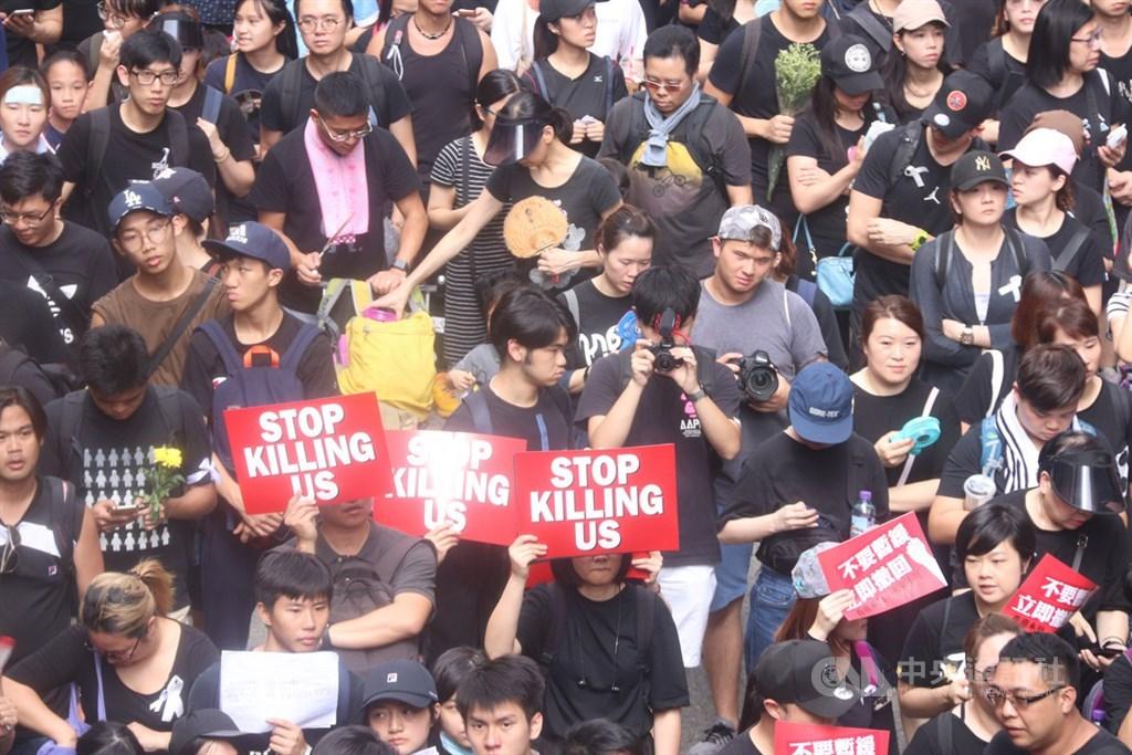 香港721遊行21日將登場,主辦單位民陣20日強調,遊行若有任何失控,警方要負全責。(中央社檔案照片)