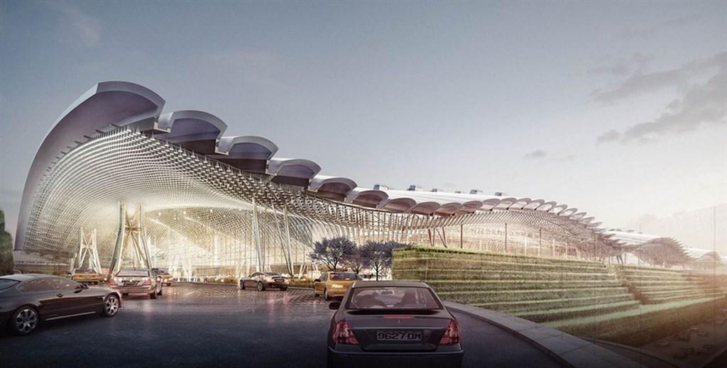 桃園國際機場第三航廈由知名英國團隊設計,特別融入台灣傳統屋頂瓦片、壯麗山脈稜線、海洋波浪及雲海等意象。(圖取自桃機網頁www.taoyuan-airport.com)