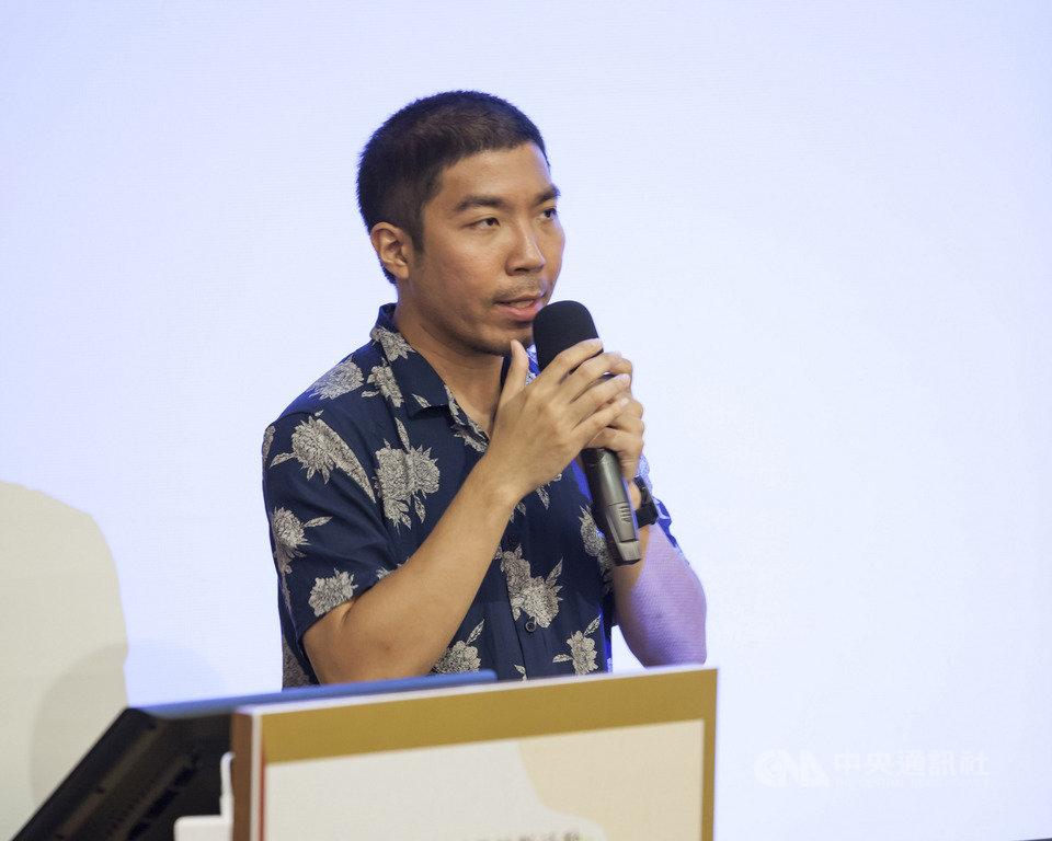 泰國喜劇片「音為愛」與「限時好友」的導演查揚諾布普拉寇(Chayanop Boonprakob)21日受邀在台北擔任講座講師,分享喜劇片創作經驗。(英雄旅程股份有限公司提供)中央社記者洪健倫傳真  108年7月21日
