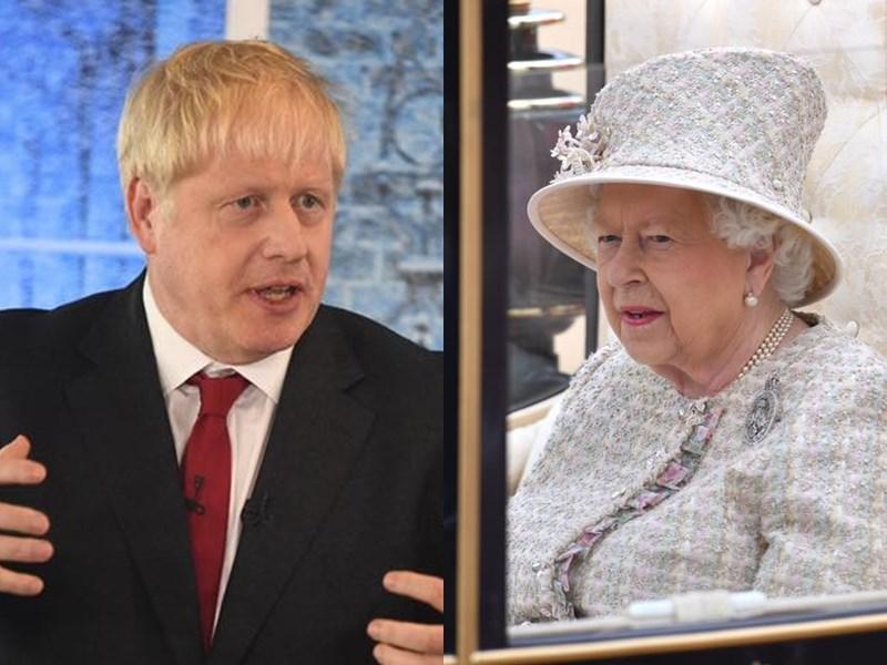 英國一些高階保守黨議員擔憂新任首相人選強生(左)會無協議脫歐,正評估敦請女王(右)介入的可能性。(左圖取自facebook.com/borisjohnson;右圖取自facebook.com/TheBritishMonarchy)