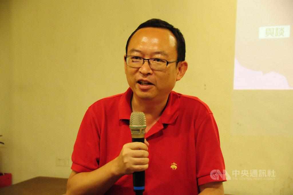 余杰23日表示,追求大一統和擴張的中國文化,無法走向民主,因此主張從教育著手,去除中國文化元素。中央社記者沈朋達攝 108年7月24日