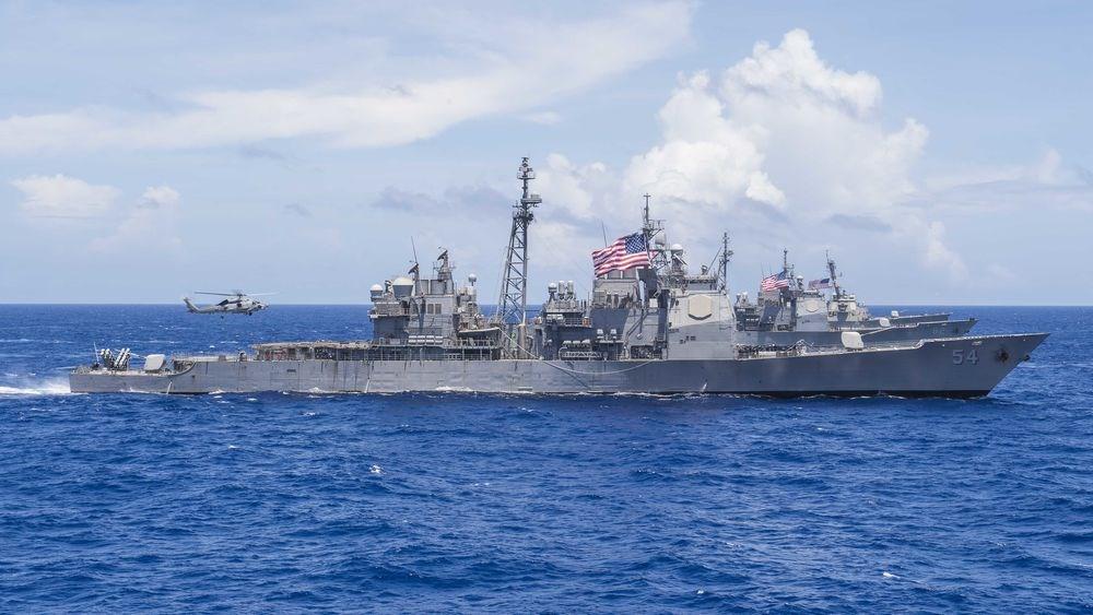 美國軍方24日表示,已派遣一艘海軍軍艦通過台灣海峽。據了解,這艘作戰艦為安提坦號巡洋艦。(圖取自美國海軍網頁www.navy.mil)