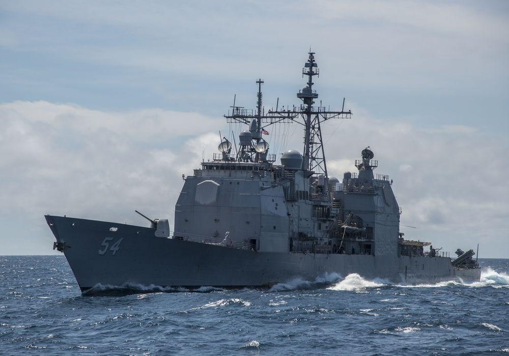 美國軍方24日表示,已派遣一艘海軍軍艦通過台灣海峽。據了解,這艘作戰艦為安提坦號。(圖取自美國海軍網頁www.navy.mil)