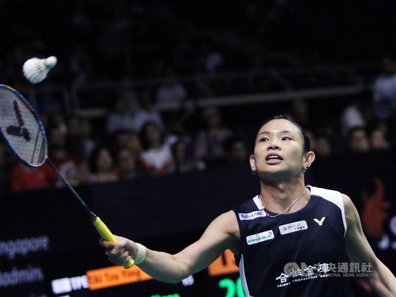 世界球后戴資穎(圖)25日在日本羽球公開賽16強賽僅花29分鐘,輕鬆擊敗世界排名第16的印尼女子單打一姐格蕾戈麗亞,挺進8強。(中央社檔案照片)