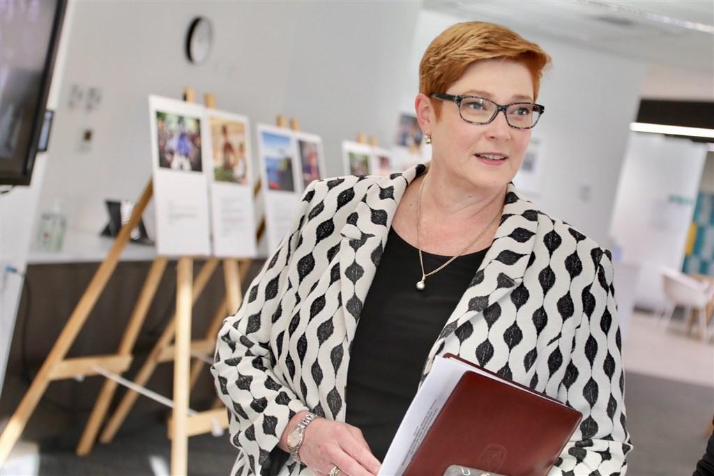 針對昆士蘭大學爆發的反送中衝突,澳洲外交部長潘恩表示,「即便是具有爭議且敏感的議題」,澳洲仍保障言論自由權利。(圖取自twitter.com/MarisePayne)