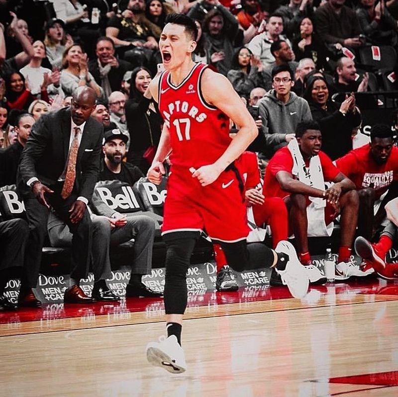 歐洲網站Sportando報導,NBA新科總冠軍多倫多暴龍隊成員之一的林書豪(前)是莫斯科中央陸軍補強首要目標。(圖取自林書豪IG網頁instagram.com/jlin7)