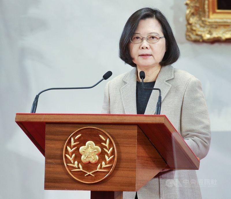 總統蔡英文強調,「一國兩制」不是台灣可以接受的。(中央社檔案照片)