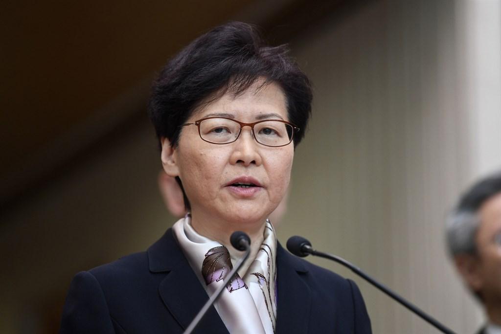 面對港人要求下台的聲浪,香港特首林鄭月娥5日舉行記者會表態會「謹守崗位」,並譴責極端分子的作為嚴重挑戰國家主權。(中通社提供)中央社 108年8月5日