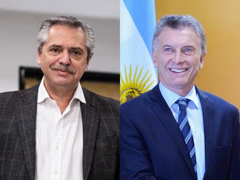 阿根廷12日舉行總統大選預選,反對黨候選人艾柏托(左)得票率大幅領先尋求連任的總統馬克里(右)。(左圖取自facebook.com/alferdezok、右圖取自facebook.com/mauriciomacri)