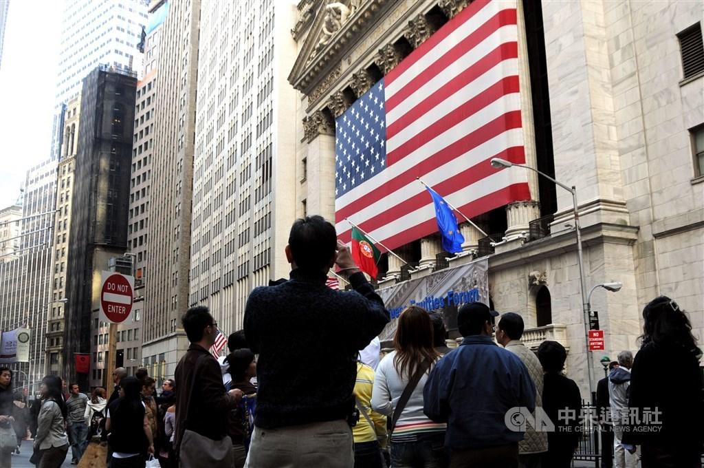 圖為美國紐約證交所。(中央社檔案照片)