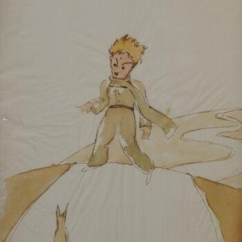 瑞士媒體報導,瑞士北部一座倉庫裡發現了法國奇才作家聖修伯里世界名著「小王子」的插圖草稿。(圖取自網頁skkg.ch)