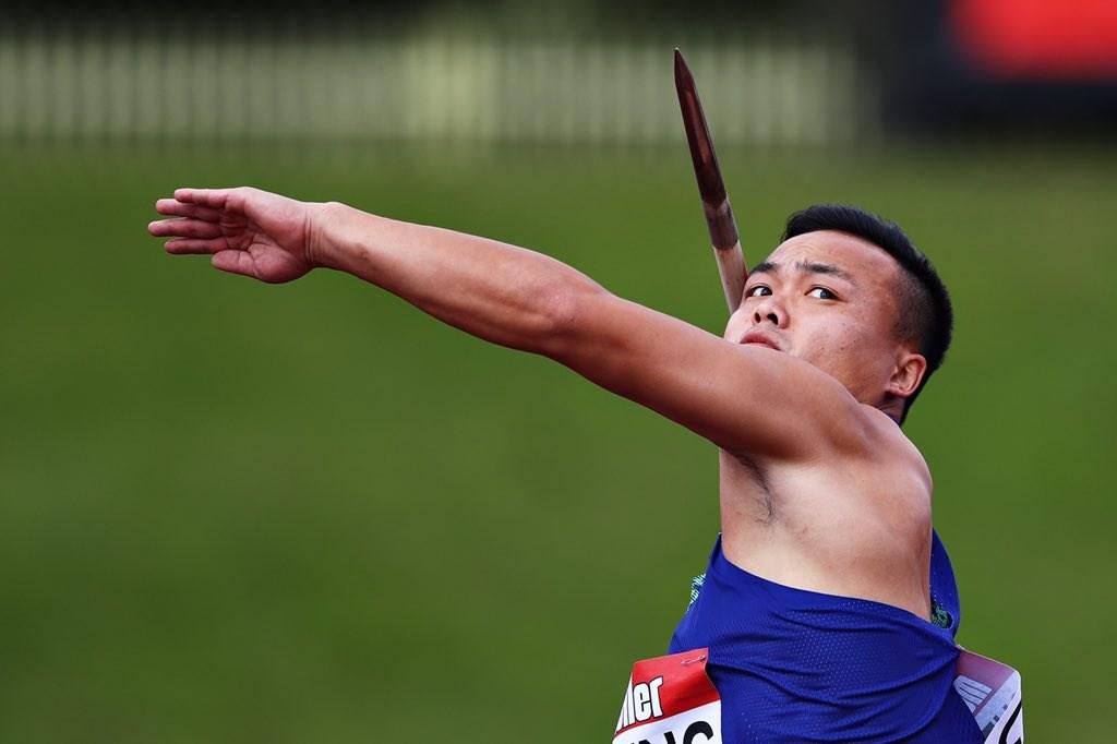 亞洲男子標槍紀錄保持人鄭兆村在國際田徑鑽石聯賽英國伯明罕站繳出87公尺75的成績,奪隊史首面金牌。(圖取自twitter.com/iaaforg)
