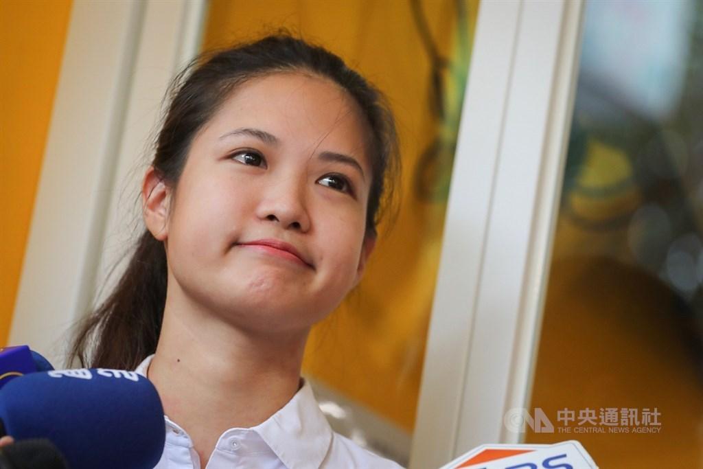 時代力量20日決策會議改選黨主席,只有台北市議員林亮君(圖)一人登記參選。14位決策委員中僅4票同意,因此無法選出繼任人選。(中央社檔案照片)