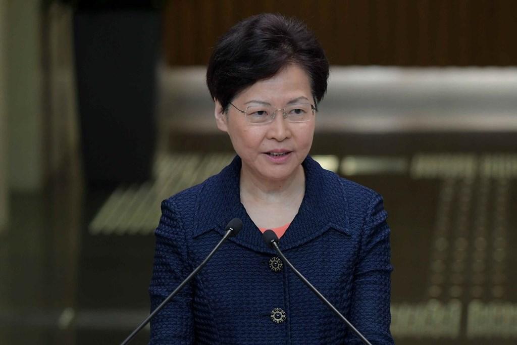 香港行政長官(特首)林鄭月娥20日公布,一個專門監察警方的委員會正處理反修訂逃犯條例事件爆發以來外界對警方的投訴。(圖取自香港政府新聞網網頁news.gov.hk)