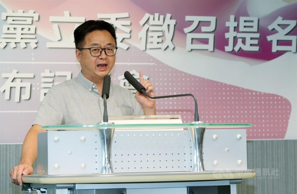 民進黨秘書長羅文嘉23日表示,與台聯協商達成共識,台北市南松山、新北市汐止兩個立委選區將共推並支持一組人參選。(中央社檔案照片)