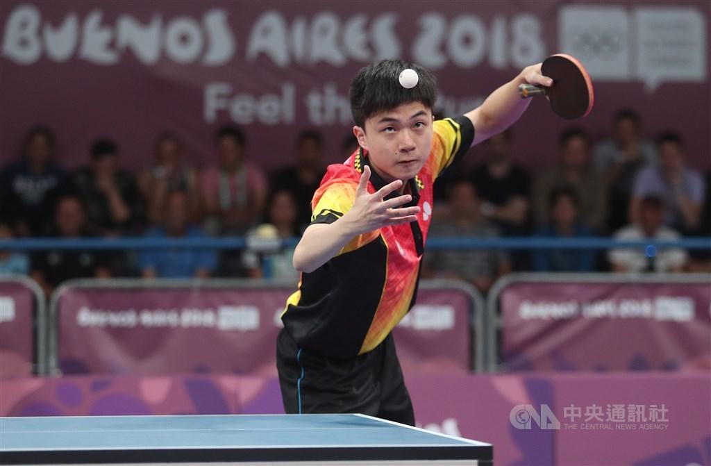 台灣「桌球神童」林昀儒23日在捷克桌球公開賽男單16強賽,以4比2勝出,挺進8強賽。(中央社檔案照片)