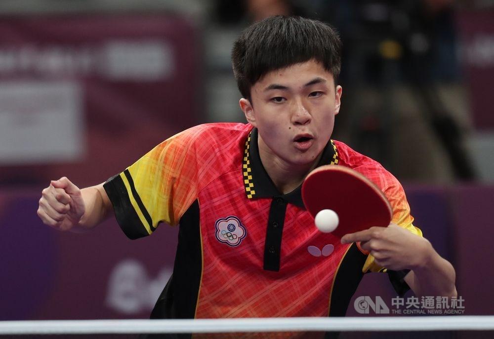 台灣桌球小將林昀儒(圖)25日以4比3扳倒世界排名第8的德國名將波爾,闖進2019捷克桌球公開賽男單決賽。(中央社檔案照片)