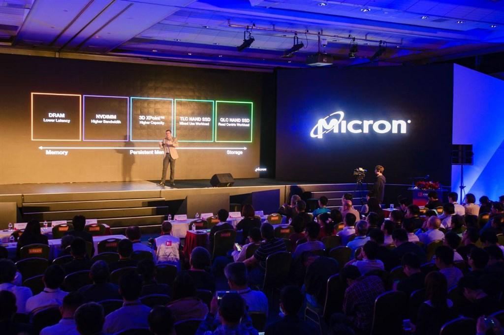 產業人士指出,美光在台灣加碼投資提升DRAM先進製程,帶動台灣在全球記憶體產業地位。圖為美光產品發表。(圖取自facebook.com/MicronTWN)