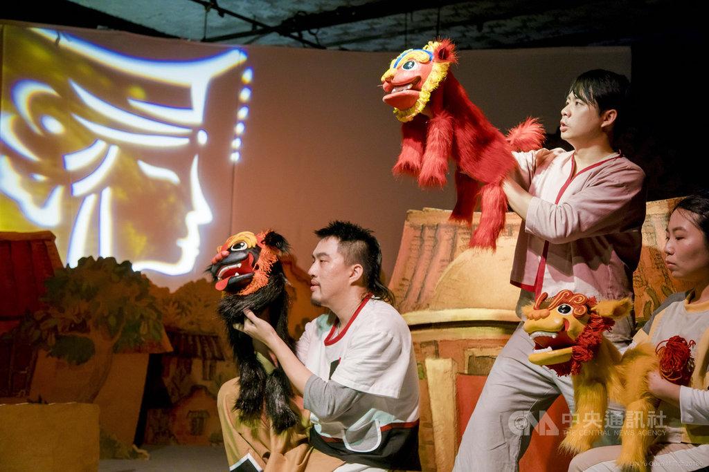 信誼基金會將圖畫書結合戲劇、音樂、遊戲與在地文化元素,推出「劍獅出巡」兒童劇,20日起展開北、中、南巡演。(信誼基金會提供)中央社記者陳政偉傳真  108年9月3日